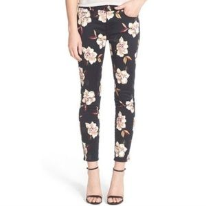 7 For All Mankind Skinny Ankle Floral Jeans